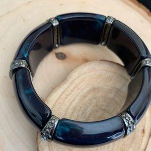 Elegant midnight blue cuff with sparkle detail